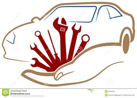 sieges auto logo d 39 atelier d 39 automobile illustration de vecteur