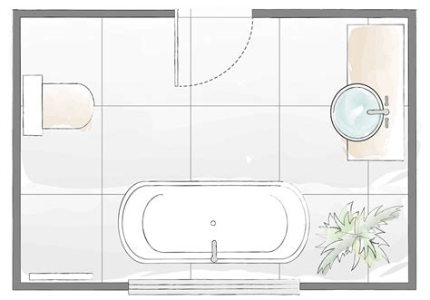Bathroom Layout Plans