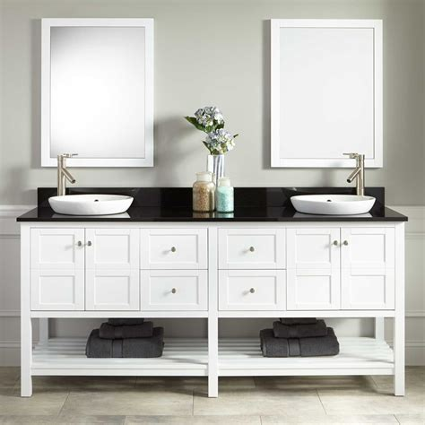 "72"" Everett Double Vanity For Semirecessed Sink White"