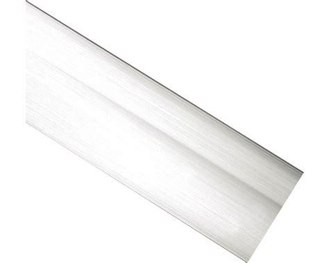 blende fuer vorhangschiene edelstahloptik  cm breit bei