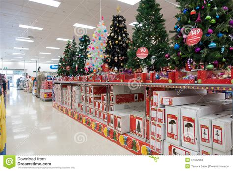 christmas decorations big  superstore editorial stock