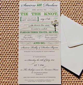 unique irish wedding stationery dublin city wedding