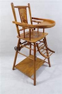 Chaise Haute Bébé Bois : high chair baby vintage 1900 convertible charmer patterned ~ Melissatoandfro.com Idées de Décoration