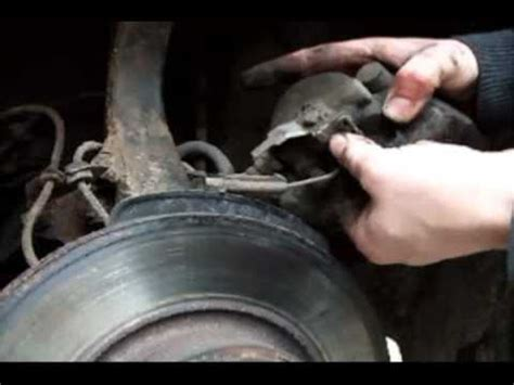 replace alfa    front brake pads youtube