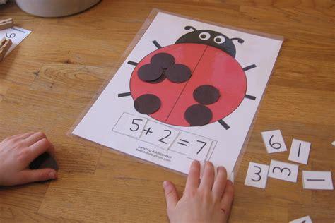 ladybug math for preschool kindergarten amp 1st grade the 812 | ladybug math mat the measured mom