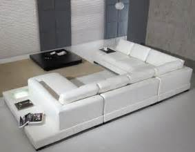 sofa style modern leather 5 sectional sofa in white by tosh furniture noor furniture