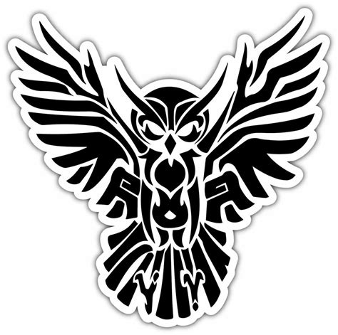 illuminati owl symbol illuminati owl symbol tribal car bumper window vinyl