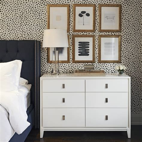 West Elm Niche Nightstand by Dove Gray Deco Bed With Mirrored Dressers