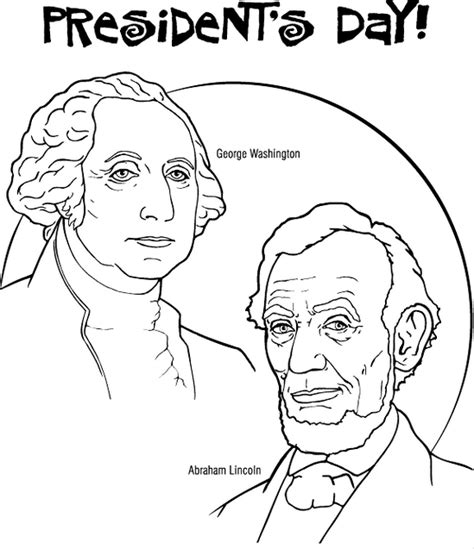 presidents day coloring pages printable presidents day coloring page coloringpagebook