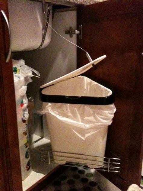 sliding trash can under sink creative under sink storage ideas hative