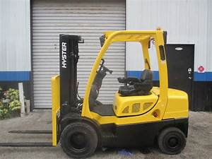06 Hyster H50ft 5000lbs Lpg Forklift W   Side Shift Solid Pneumatic Tires 189