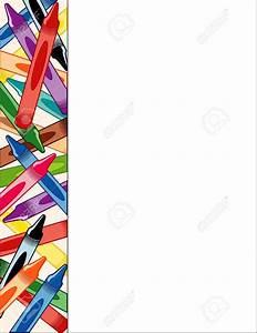 Crayon clipart borders collection