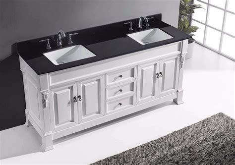 72 quot huntshire bathroom vanity in white with black