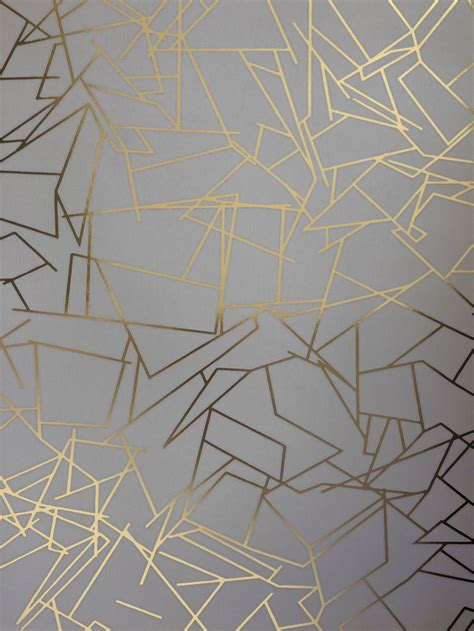 angles  erica wakerly gold zinc grey wallpaper