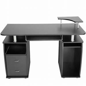 Bureau Pas Chere : bureau noir achat vente bureau noir pas cher cdiscount ~ Melissatoandfro.com Idées de Décoration