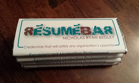 Chocolate Bar Resume by Here S 27 Of The Most Creative Resumes You Ll See