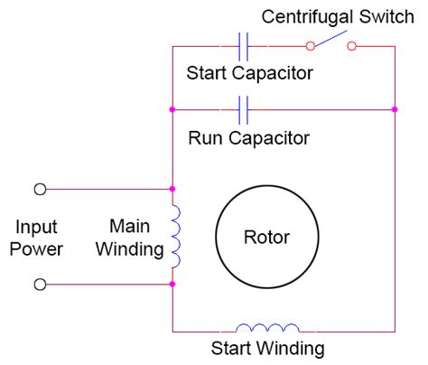 Start Capacitor Wiring by Start Run Capacitors Ac Induction Motors Eee Community