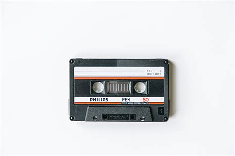wallpaper philips compact cassette vintage closeup