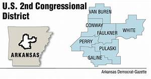 A map showing the U.S. 2nd Congressional District.