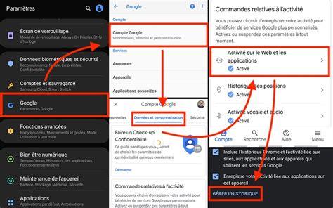 google comment supprimer automatiquement votre historique web  localisation