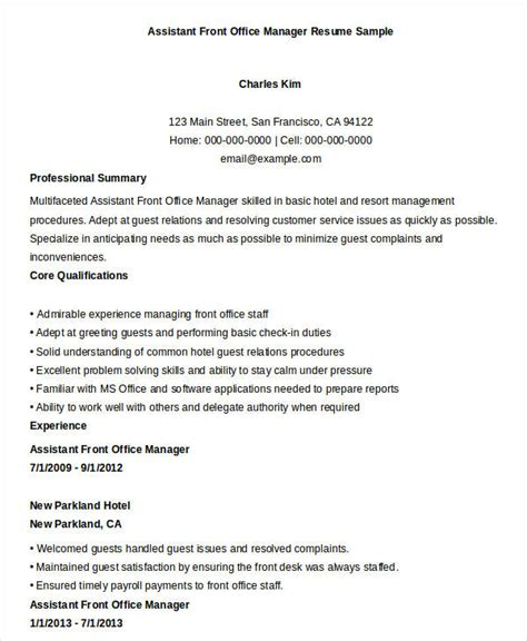 assistant front office manager resume free manager resume templates 40 free word pdf documents free premium templates