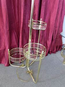 lot detail attractive polished brass floor lamp with With floor lamp with plant stand