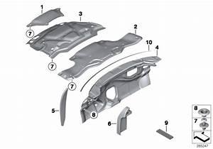 Mini Cooper S Heat Insulation  Engine Compartment Lid