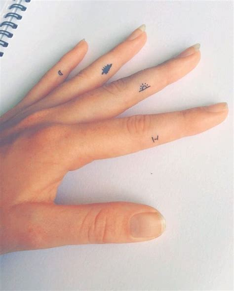 ideas  tiny finger tattoos  pinterest