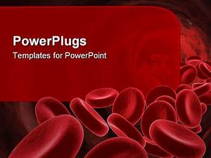 red blood cells medical concept 3d image powerpoint With blood ppt templates free download