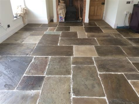 York Flagstone Floors Cleaned And Polished