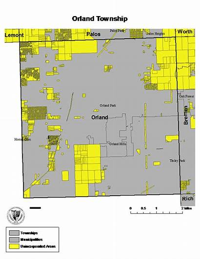 Orland Cook County Township Region Townships Unincorporated