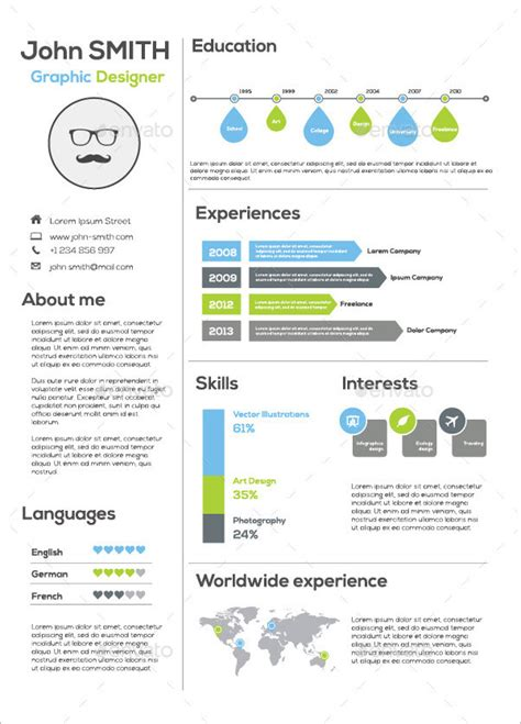 20419 infographic resume template 33 infographic resume templates free sle exle