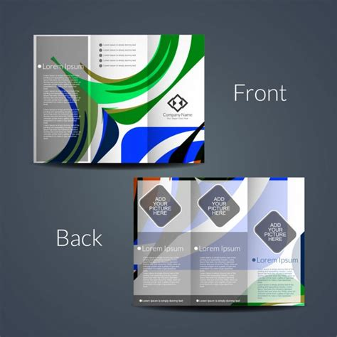 Abstract Colorful Brochure Design Template Vector Tri Fold Colorful Tri Fold Brochure Design Vector Free