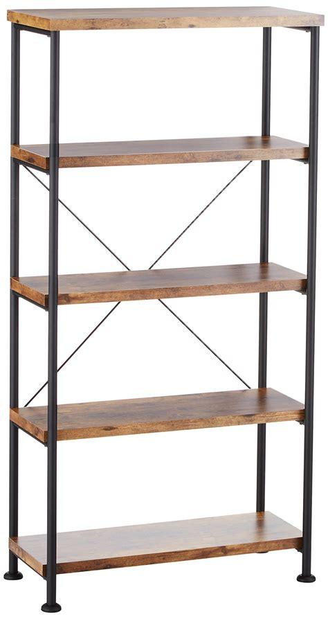 Vintage Industrial Bookcase by Ladder Bookshelf Corner Narrow Bookcase Vintage