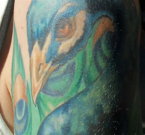 Sink The Ink Willow Grove Artists by Tattoosday A S Stunning Peacock