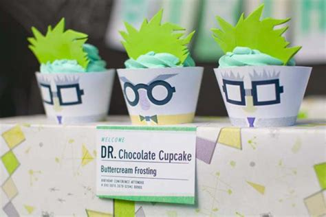karas party ideas mad science themed dessert table