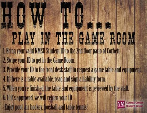 game room nmsu corbett center student union  mexico