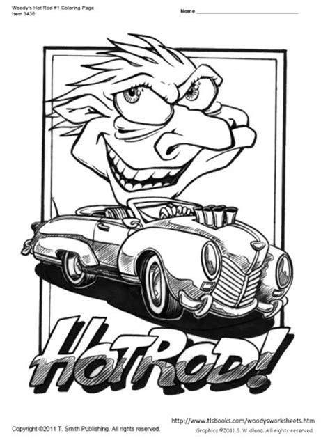 Kleurplaat Hotrod by Woody S Rod Coloring Page
