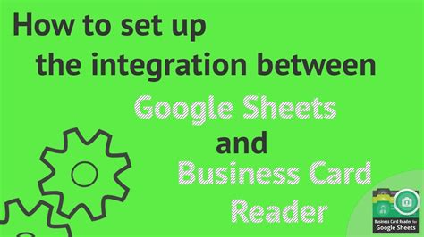 How To Set Up The Integration Between Google Sheets And Business Card Emoji Resume Avery Glossy Vs Matte Pixel Size Wall Display Stock Cards Hs Code