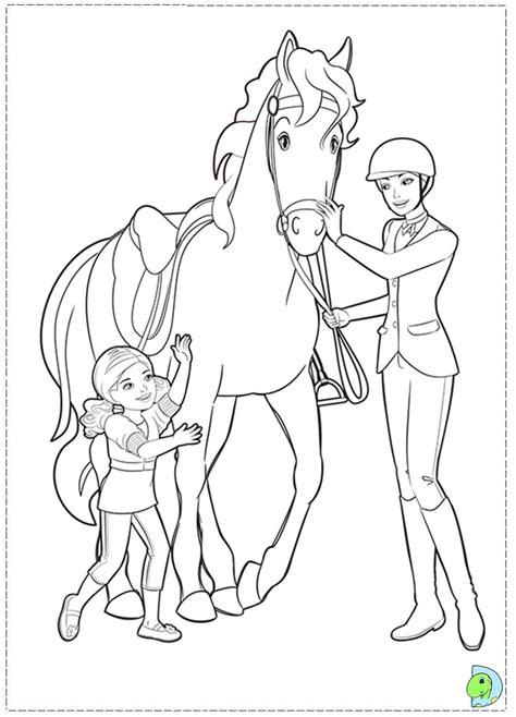 barbie   sisters   pony tale coloring barbie dinokidsorg