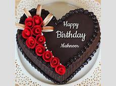 Beautiful Chocolate Heart Name Birthday Cake With Rose