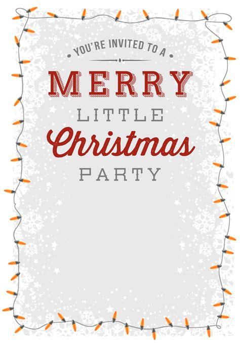 free printable christmas invitations template a merry free printable invitation