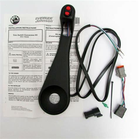 johnson evinrude omc new remote trim switch conversion 0176530 176530 ebay