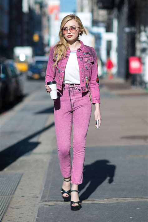 peyton list street fashion    york