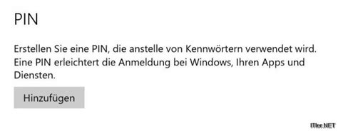 windows  pin deaktiveren loeschen