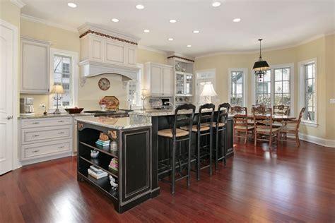 kitchen island with wine rack stylish kitchen with two tier kitchen island homesfeed