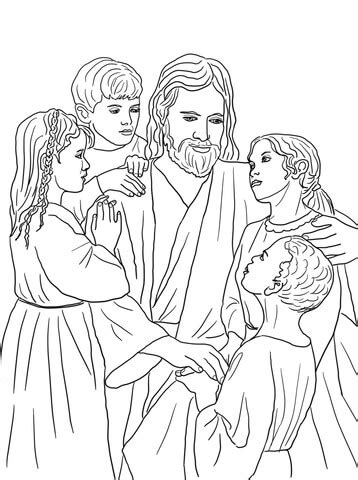 jesus loves   children   world coloring page supercoloringcom
