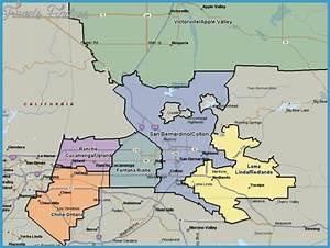 San Bernardino Metro Map   TravelsFinders.Com