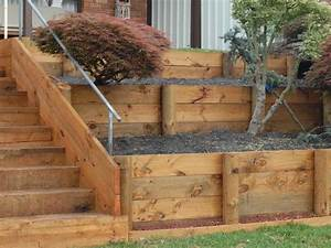 How To Build Wood Retaining Wall PDF Woodworking