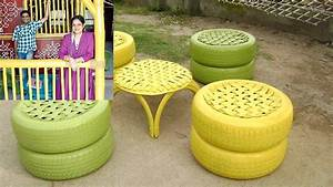 Recycled Tire Furniture Scrap Tires